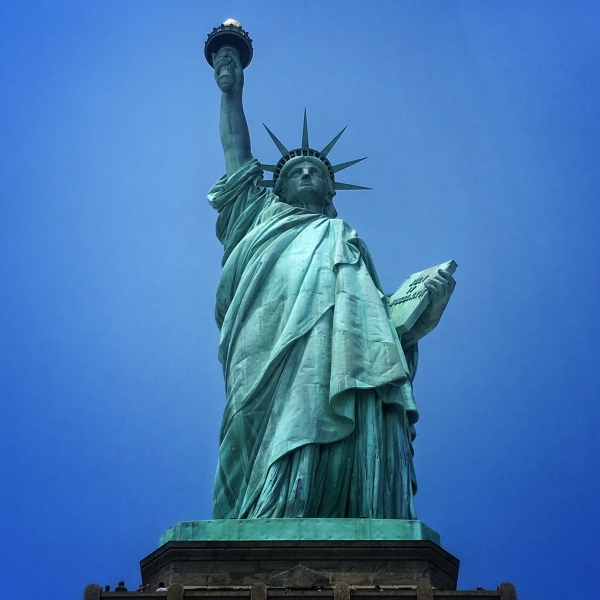 statue of liberty at the new york harbor