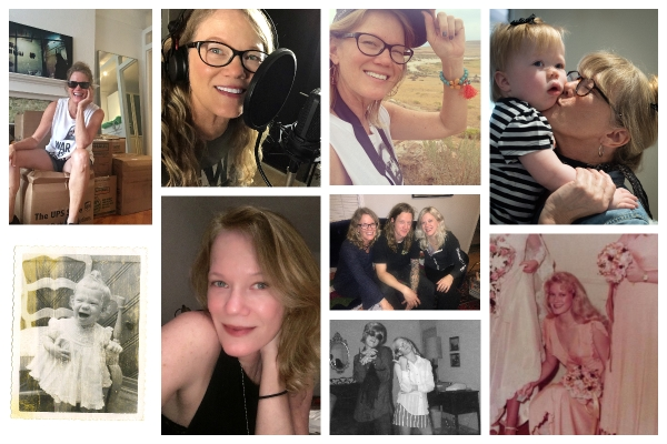 collage of sandy hibbard different lives
